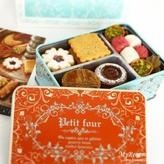 おしゃれなパッケージ お菓子 Dessert Packaging, Bakery Packaging, Cookie Packaging, Packaging Ideas, Cookie Box, Cookie Gifts, Food Gifts, Japanese Cookies, Biscuits Packaging