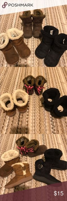 Toddler girl boot bundle. Sz 6 GUC. Bundle of 3. Slide on with Velcro on the sides. Geranimals and Carters brand. All Sz 6. All sell together. Shoes Boots