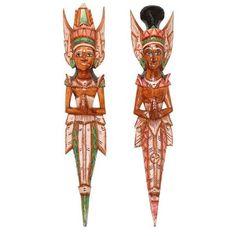 Casal Rama e Sita em Madeira Bali 60cm - http://www.artesintonia.com.br/casal-rama-e-sita-em-madeira-bali-60cm