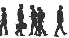 Silhouette Of Walking People. Side View. Full HD Footage With Alpha Channel Стоковые футажи для видео 11204717 - Shutterstock