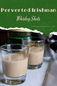 Irishman Whiskey Shot Perverted Irishman whiskey shot recipe is a combination of Bailey's and Jameson that is sweet and delicious. Perverted Irishman whiskey shot recipe is a combination of Bailey's and Jameson that is sweet and delicious. Jameson Whiskey Drinks, Baileys Drinks, Irish Drinks, Jameson Irish Whiskey, Whiskey Shots, Alcoholic Beverages, Jameson Shots, Alcoholic Punch, Recipes