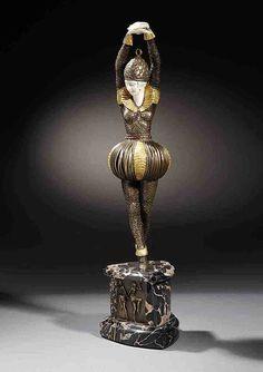 Demetre Chiparus  Romanian Art Deco era sculptor Demetre h. Chiparus (1886-1947)   Animated bronze ... Dance