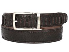 PAUL PARKMAN Men's Brown Genuine Python (snakeskin) Belt (ID#B03-BRW)
