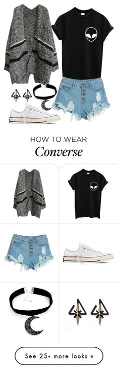 """Casual"" by chap15906248 on Polyvore featuring WithChic, Converse, women's clothing, women's fashion, women, female, woman, misses and juniors"
