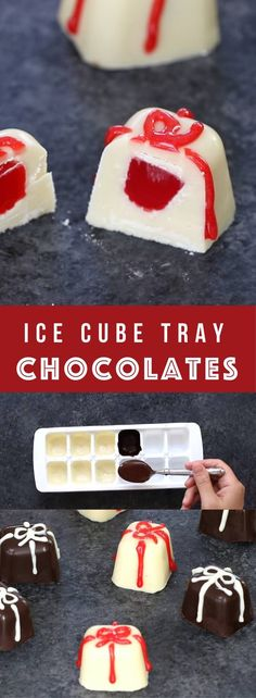 How to make homemade gourmet chocolates in an ice tray – the easiest gift idea that everyone will love. Use white chocolate and semi-sweet chocolate to coat the ice tray, and then add any filings you like: candies, nuts, fruits, oreos, peanut butter cups or marshmallows. One of the best homemade gifts for holidays, Mother's Day, Father's Day, Valentines or Christmas! Quick and easy recipe, DIY homemade gifts, no bake. Video recipe.