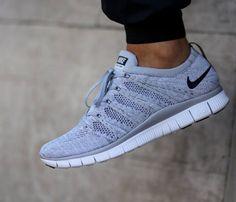 Nike Free Flyknit NSW-Wolf Grey-Black-Dark Grey-White