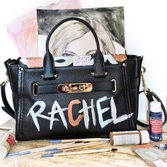 Totally painted my @Coach bag cause I've always wanted to literally carry my name. Catch my weekly round up on my blog #WhatsYourSwagger