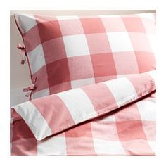 EMMIE RUTA Quilt cover and 2 pillowcases - 150x200/50x80 cm - IKEA