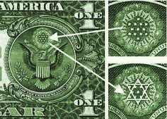 The New World Order- Secret Societies and Biblical Prophecy~notice the freemasonic zionist isaeli emblem on the top of the eagle on your dollar bill - guess what it is satanic Illuminati Secrets, World Government, Freemasonry, Old Coins, Knights Templar, Star Of David, New World Order, Conspiracy Theories, Fantasy
