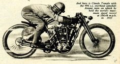 Temple Anzani 1923 World Record Racer. Bevel driven 4 valves