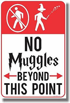 Amazon.com: No Muggles Beyond This Point - NEW Humor Magic Wizard Poster: Posters & Prints