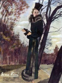 Nina Ricci 1937 Coat Pierre Mourgue by Pierre Mourgue | Hprints.com