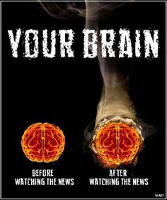 Your brain before watching the news & after watching the news | Anonymous ART of Revolution