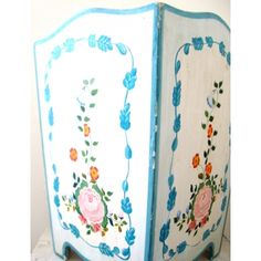Hand Painted Wooden Wastebasket- SOLD!