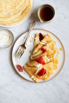 Blood Orange & Crème Fraîche Crêpes | Now, Forager | Teresa Floyd Crepes Party, Dessert Crepes, French Donuts, French Crepes, Breakfast Photo, Crepe Recipes, Pancakes And Waffles, Creme Fraiche, Tostadas
