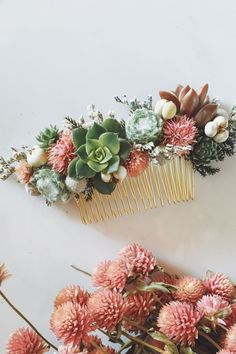 Wear the comb now, plant the succulents later