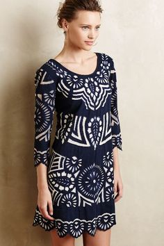 Such a gorgeous dress!  Can be casual or dressy. And it's navy and white!