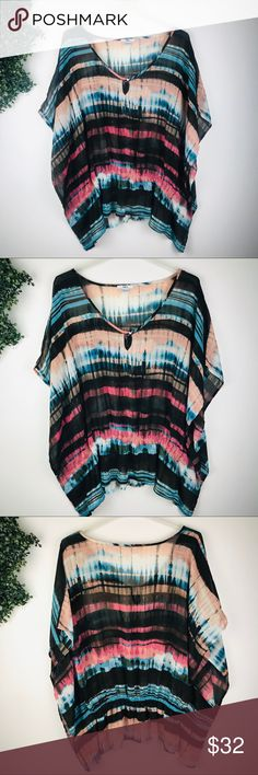 Shop Women's Bar III size L Coverups at a discounted price at Poshmark. Plus Fashion, Womens Fashion, Fashion Tips, Fashion Design, Fashion Trends, Chiffon Tops, Tie Dye, Cover Up, Swim