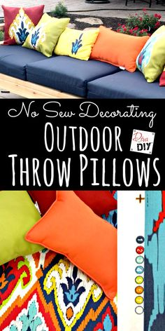 Looking for quick outdoor decorative pillows? With this easy tutorial take…