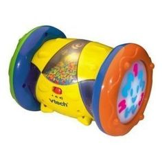 Vtech Twist, Rock & Roll by Vtech. $19.99. Number and silly sounds mode reinforces counting skills with tapping. Music mode invited bongo playing to stimulate motor skill development. Translucent chambers with rolling beads for visual excitement. Rolling mode encourages crawling with fun phrases triggered by motion. On/Off switch and volume control. This diverse toy keeps baby busy with rolling, crawling, music and silly sounds! With three different modes to play, baby will l...