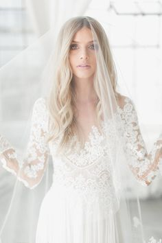 Shop our wide selection of bridal veils and accessories or submit your custom order! Simple Wedding Veil, Perfect Wedding Dress, Wedding Veils, Wedding Dresses, Ivory Wedding, Dream Wedding, Wedding Hair, Chapel Length Veil, Veil Length