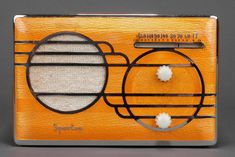 Sparton 'Cloisonné' Model Catalin Radio with Apricot Front