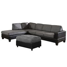 Sofa Table US Pride offer the best US Pride Sierra Microfiber Sectional Sofa with Ottoman Left