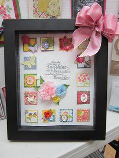 Spring Square Swap Frame! http://justspongeit.blogspot.com/2013/03/spring-square-swap.html