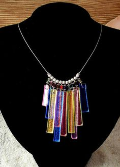 Dichroic Windchimes Necklace by Triplelle, via Flickr