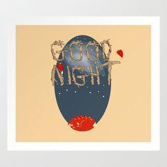 Good  night  Art Print by Elliot Swanson  - $12.48