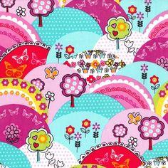 Michael Miller fabric Multi Happy Hills