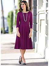 Seamed Ponte Dress | Women's Dress | Appleseeds