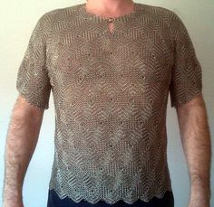 the quilt pattern Tumbling Blocks made into a chainmaille shirt!