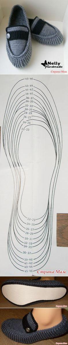 Вязаные мужские мокасины - разм. 46-47 - Вязание - Страна Мам | НОСКИ, ОБУВЬ | Постила