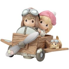 Precious Moments Couple in Plane Figurine (94 CAD) ❤ liked on Polyvore featuring home, home decor, porcelain figure, precious moments, porcelain figurines and precious moments figurines