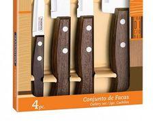 Conjunto de Facas 4 Peças - Tramontina 22299/041 com as melhores condições você encontra no Magazine Taveirapires. Confira!