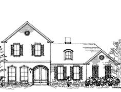 European House Plan with 3643 Square Feet and 3 Bedrooms(s) from Dream Home Source | House Plan Code DHSW16060