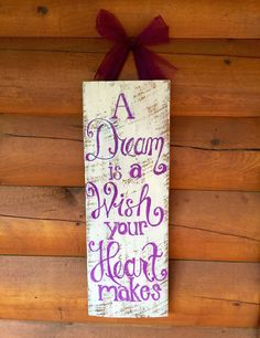 Hand-Painted Disney Princess inspired wall decor for little girls room, nursery or play room