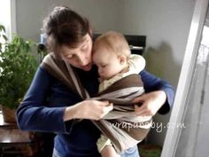 Poppin's Hip Carry- easy tutorial from Wrap A Baby.