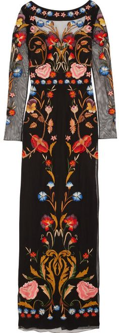 Temperley London Toledo floral-embroidered tulle gown | fall '14 collection