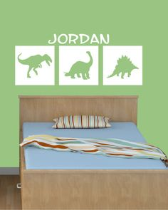 Kid's Name Dinosaur Decal  Wall decals  by DavisVinylDesigns, $20.00