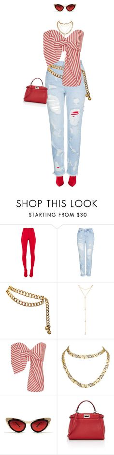 """""""RED... again"""" by miriedkarissa0802 ❤ liked on Polyvore featuring Balenciaga, Topshop, Chanel, Fragments, Johanna Ortiz, Cartier, Spitfire and Fendi"""