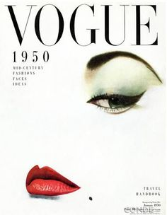 Vintage Vogue cover featuring a doe-eyed Jean Patchett, photographed by Erwin Blumenfeld, January 1950 Vogue Vintage, Capas Vintage Da Vogue, Vintage Vogue Covers, Vintage Love, Vintage Fashion, Vintage Style, 1950s Style, Vintage Glam, Vintage Art