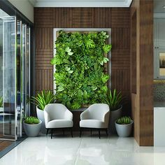 Fresh and warm, waiting's Spa room verde artificial sala 37 Brilliant Indoor Vertical Garden Design Ideas to Brighten Up The Space Vertical Green Wall, Vertical Garden Design, Backyard Garden Design, Schönheitssalon Design, Wall Design, Design Case, House Design, Design Ideas, Office Interior Design