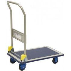 Chariot à dossier rabattable 200 kg