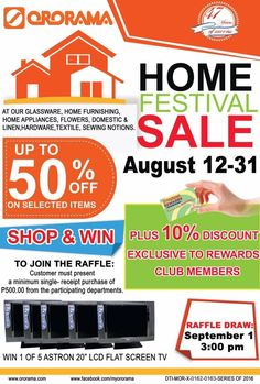 Want to have an LCD Flat Screen TV? If so, all you need to do is join the at Plus, you get to avail on our Home Festival Sale! Sewing Notions, Home Furnishings, Flat Screen, Join, Home Appliances, Tv, Health, Blood Plasma, House Appliances
