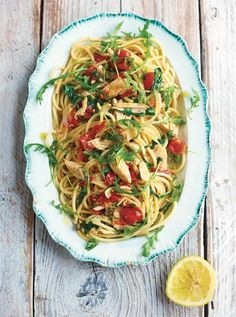 Busy Day? A quick pasta dish is always healthier than a fast food meal. Look for easy and quick pasta recipes like this one from Jamie Oliver