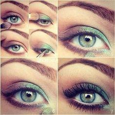 Gorgeous green #wedding eye #makeup for green #eyes www.finditforwedd...