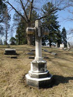 large cross shaped stone Saint Bernard Cemetery Springfield, Ohio