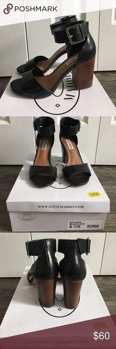 FLASH SALE Steve Madden Estoria Heels Steve Madden Estoria chunky heels  Size 6.5, only worn twice! Still in great condition!  ✨Make me an offer!! ✨10% off bundles of 2 or more items! Steve Madden Shoes Heels
